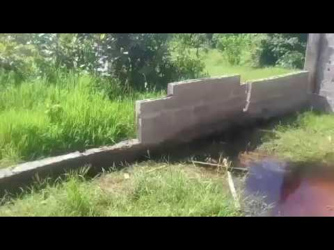 How to build fence on swampy land in Nigeria