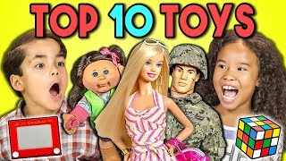 KIDS REACT TO TOP 10 TOYS OF ALL TIME (200th Episode!)