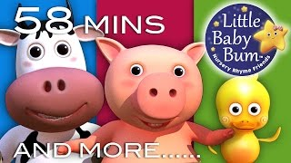 Old MacDonald Had A Farm   Plus Lots More Nursery Rhymes!   58 Mins Compilation from LittleBabyBum!