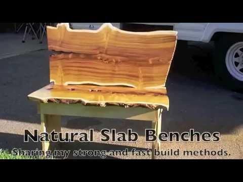 Natural Edge Slab Benches