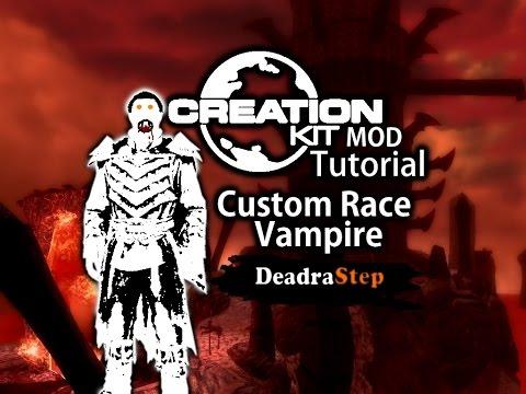 Make a Custom Race Vampire Skyrim Creation kit Tutorial DeadraStep
