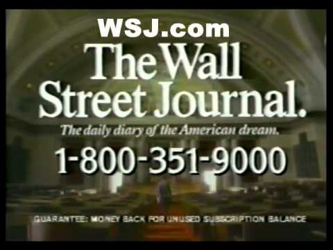 "1988 WALL STREET JOURNAL ad - ""After all, it's YOUR money!"""