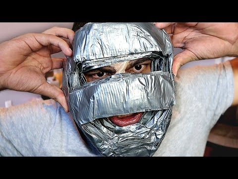 100 LAYERS OF DUCT TAPE ON FACE!!