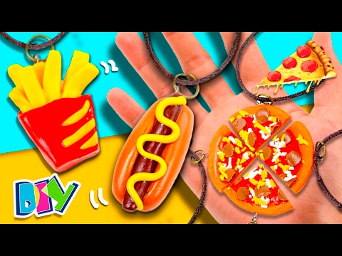 DIY Fast Food FRIENDSHIPS Necklaces * Hot Dog 🌭 & FRIES 🍟 PEPPERONI PIZZA🍕 for your BFF's!