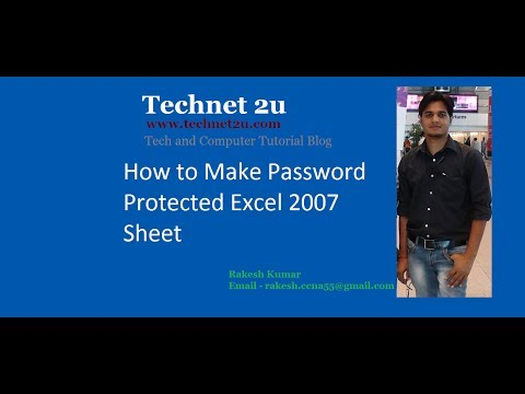 How to make Password Protected excel file 2007