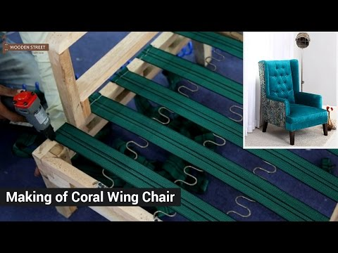 Making of Wingback Chair - Buy Wooden Coral Wing Chair @ Wooden Street