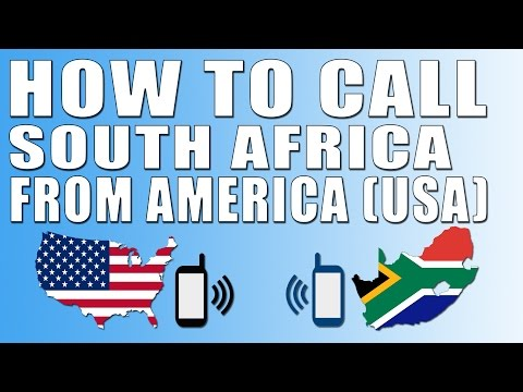 How To Call South Africa From America (USA)
