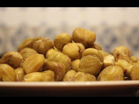 How to peel chestnuts. New method. Cómo pelar castañas. Comment peler châtaignes
