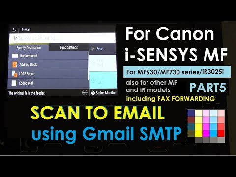 How to SEND to Email using Google SMTP - MF730 series (part5)