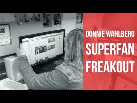 Donnie Wahlberg Superfan Freaks Out