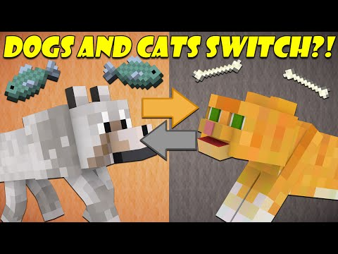 If Cats and Dogs Switched Places - Minecraft