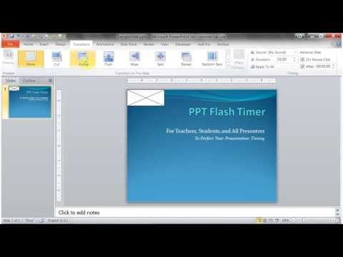 How to install PPT Flash Timer