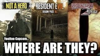 Resident Evil 7 Not A Hero | Resident Evil 2 Remake | Season Pass DLC | When Will We See Them?