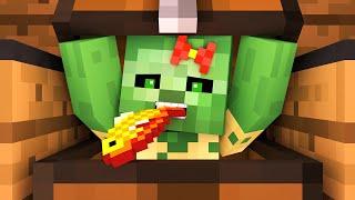 Zombie vs Villager Life 8 - Alien Being Minecraft Animation