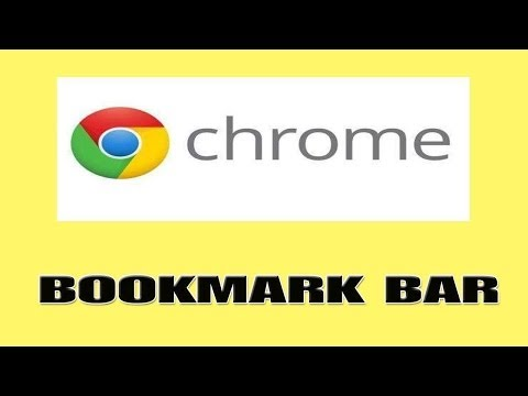 How to add websites to Google Chrome bookmarks bar
