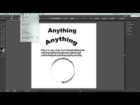 Curving Text In Illustrator CS6