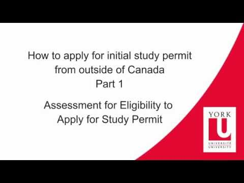 How to apply for Study Permit (Online) - Part 1