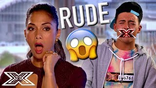 REJECTED Contestant Is RUDE To The Judges | X Factor Global