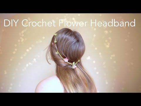 DIY Crochet Flower Headband
