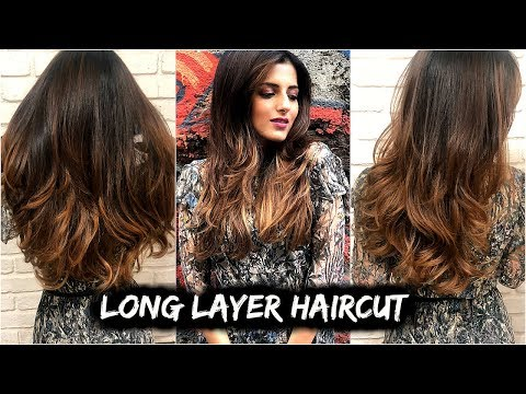 All About MY CURRENT Haircut- Long Layered Haircut Tutorial/ How To Cut Layers In Medium-Long Hair