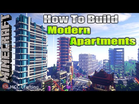 Minecraft How To Build Modern Futuristic Apartments Condo Flats Tower Skyscraper Time Lapse
