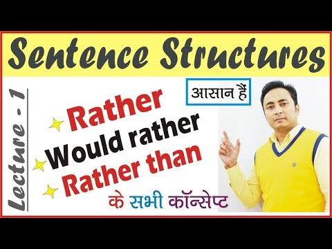 Use of Rather, Would Rather, Rather Than in English Grammar | How to use Rather in Hindi