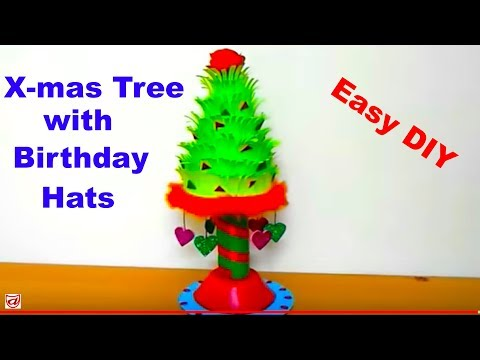 Best reuse craft ideas from Kids Party Hats | Make an amazing showpiece out of used Birthday Cap
