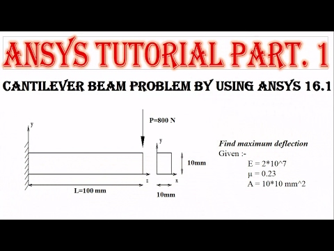 Ansys 16.1 Basic  Tutorial Part 1 Cantilever Beam Analysis
