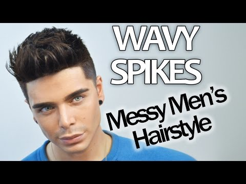 WAVY SPIKES | Messy Men's Hairstyle Tutorial | FT. MISTER POMPADOUR