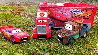 Kids Toys Fun Disney Pixar Cars Lightning McQueen Car, Tow Mater, Mack Hauler Truck Play Hide & Seek