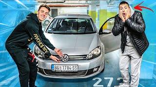 BAKA REAGUJE NA MOJ PRVI AUTO * Golf 6 vs Porsche ?*