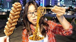 Download STREET FOOD TOUR at Korean Night Market in Dongdaemun Video