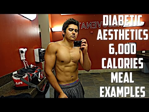 Eating 6000 Calories A Day As A Diabetic | Hard Gainer | Meal Examples