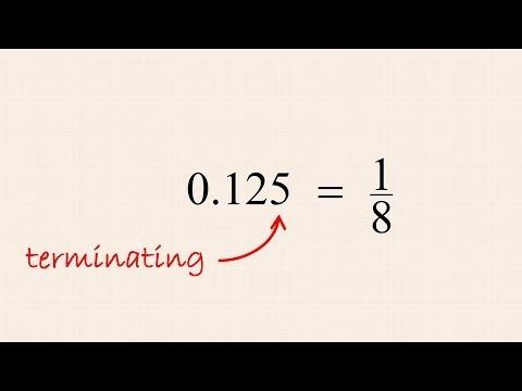 Pre-Algebra 19 - Converting Terminating Decimal Numbers to Fractions