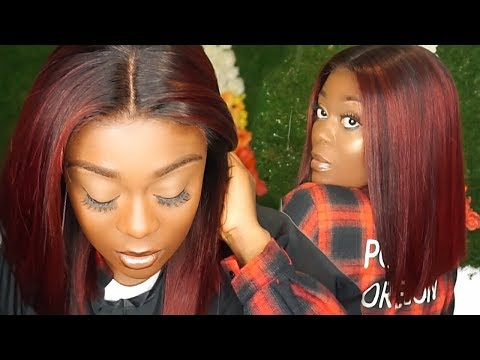 HOW TO TRANSFORM YOUR BLACK WIG TO RED WITH HIGHLIGHTS FOR DARK SKIN FT  EULLAIR HAIR