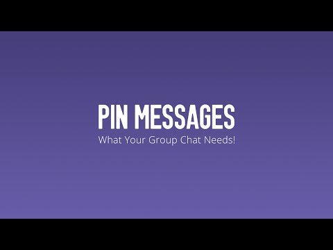 Pin Messages in Your Group Chats