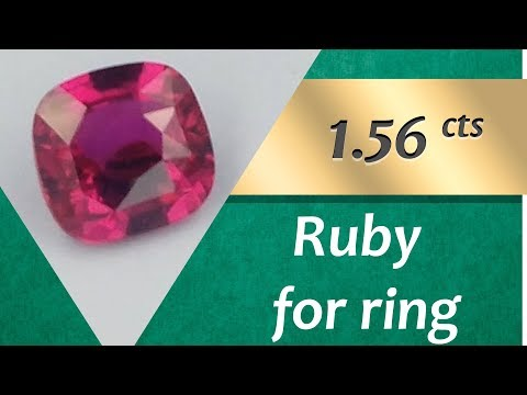 Ruby Ring: Design Unique Rings with Ruby 1.56 Carats