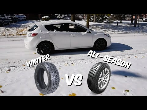 STOP TEST!! Winter vs All-Season  Tires!