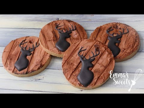 Wood Grain Effect on Cookies by Emma's Sweets