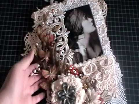 Vintage Style Lacy Wall Hanging With Pocket - Tresors De Luxe DT Project
