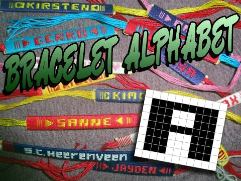Friendship Bracelet Crochet Yarn, Alphabet: Letter A