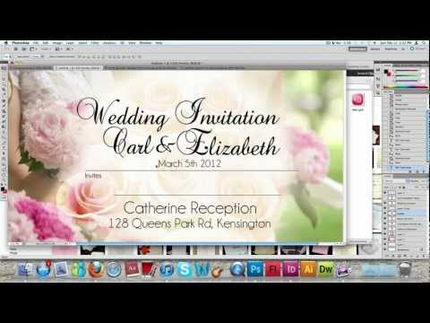 How to make a Wedding Invitation Card usng Photoshop