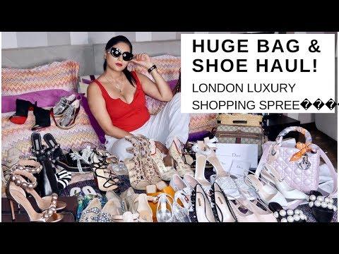 LONDON MEGA SHOE & BAG HAUL   LUXURY   Sonal Maherali
