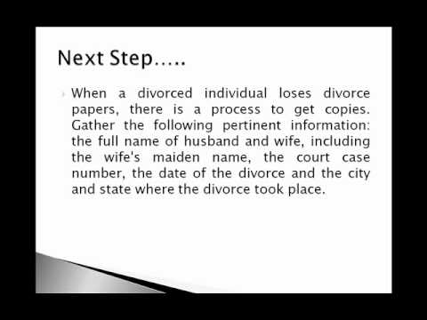 How To Get A Copy Of Divorce Papers