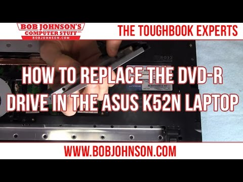 How to replace the DVD-R drive in the ASUS K52N Laptop