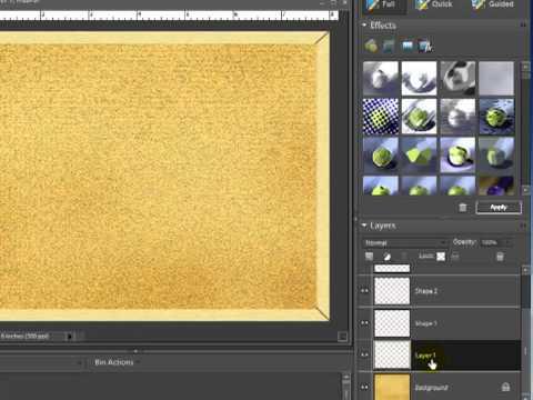Digital Scrapbooking Tutorial -- Let's Create A Corkboard