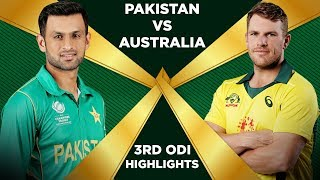 Pakistan Vs Australia 2019 | 3rd ODI | Highlights | PCB