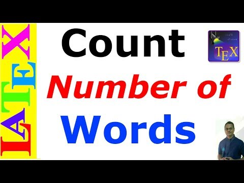 How to Count Number of Words in TeXstudio (LaTeX: Tips/Solution-37)