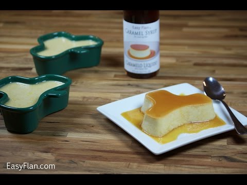 Irish cream flan