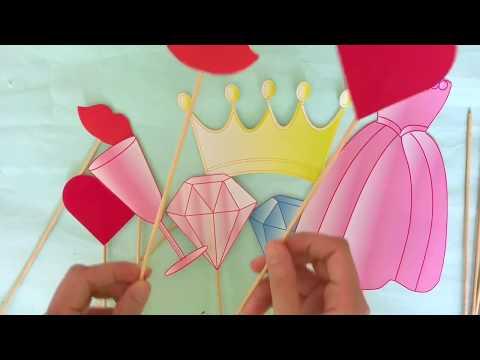 Popcil-DIY bridal shower photo booth props
